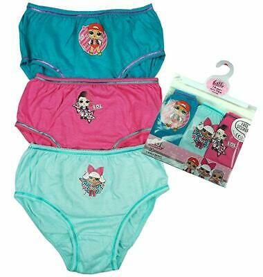 LOL SURPRISE - 3 Pack - Girls Kids Children Pants Knickers Underwear -  Age 4-10
