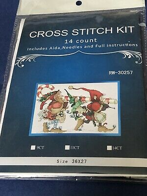 Christmas Elves Cross Stitch Kit