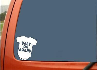 Baby On Board Baby Romper Outift Fun Sticker Window Vinyl Decal 13.5CM x 14.9CM