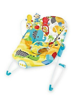 Wildlife Park Baby Rocker Animal Bouncer Chair With Soothing Music & Vibrations