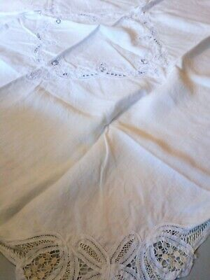 Vintage Belgian Lace Tablecloth And Napkins