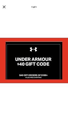 Under Armour $40 off $100 code; Exp 03/20/2019 *Fast Delivery* *LOOK HERE