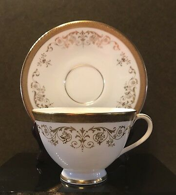 Royal Doulton Bone China Belmont H4991 Cup(S)  & Saucer(S) ~ Gold Encrusted