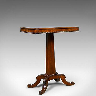 Antique Wine Table, English, William IV, Flame Mahogany, Side, Circa 1835