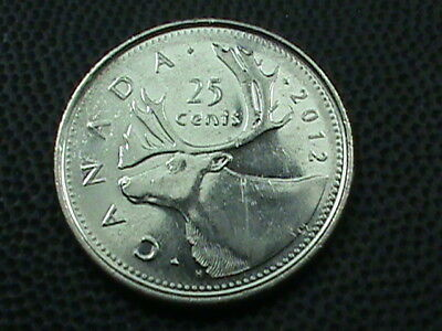 CANADA   25 Cents   2012   ,   $ 2.99  maximum  shipping  in  USA