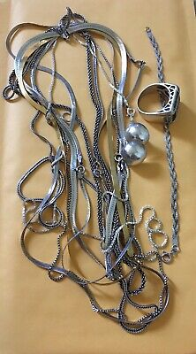 VTG Sterling Silver - Lot of 8  Chain Link Necklaces NOT SCRAP 85.69g
