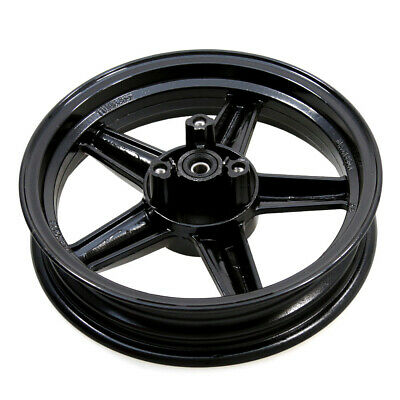 Front Wheel Complete With Bearings & Seals in Black for Sinnis Harrier 125 13-17