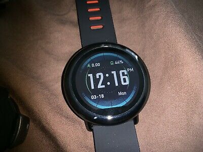 Amazfit Pace Black Case with Black Classic Buckle - (A1612-B)