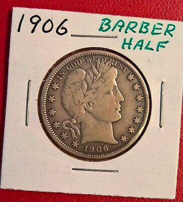 _1906_ Barber Half Dollar 50c United States