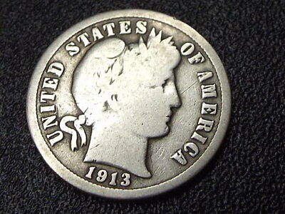 ⚡️ 1913-P Barber Dime Silver Coin + Free Shipping!
