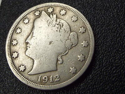 🔥 1912-P Liberty Head V Nickel Coin *lightly Circulated + Free Shipping!