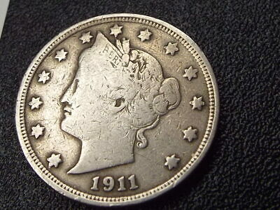⚡️ 1911-P Liberty Head V Nickel Coin *lightly Circulated + Free Shipping!