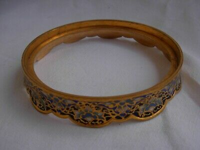 ANTIQUE FRENCH ENAMELED GILT BRONZE BASE FOR VASE OR OTHER,LATE19th CENTURY.