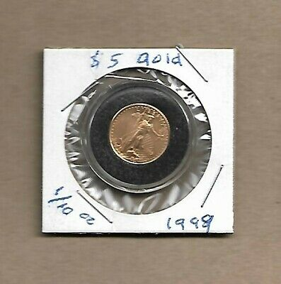 1999 UNITED STATES $5 AMERICAN EAGLE *GOLD* COIN BU condition