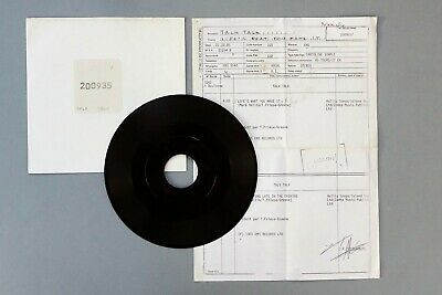 "MARK HOLLIS TALK TALK ""LIFE'S WHAT YOU MAKE IT"" RARE TEST PRESSING  EMI Archive"