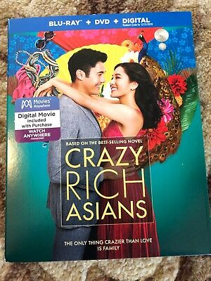 Crazy Rich Asians (Blu-ray/DVD + digital) with slipcover