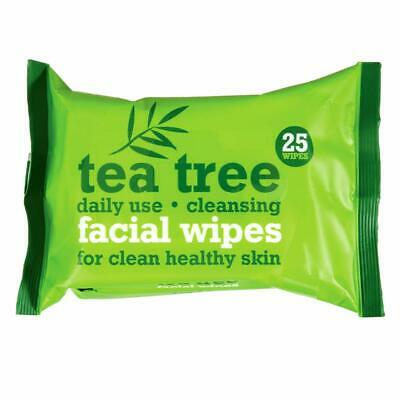 Tea Tree Daily Cleansing Facial Wipes Clean Healthy Skin Make Up Remover 50 Pcs