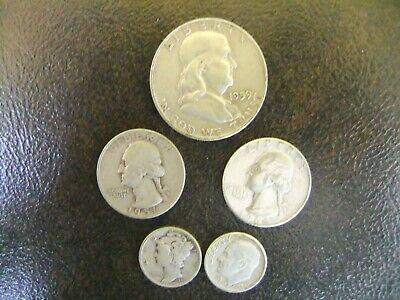 90% Silver U.S. Coin Lot Half Dollar~Quarters~Dimes $1.20 Face One Oz Junk
