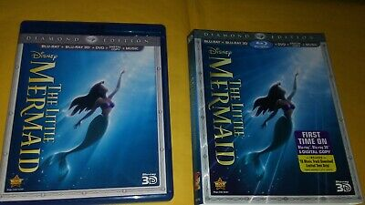 The Little Mermaid (Blu-ray/DVD, 2013, 3-Disc Diamond Edition (No digi) w/slip