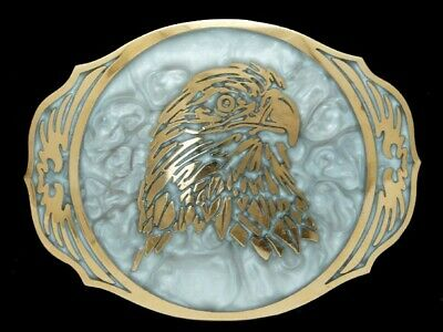 PH07169 *NOS* VINTAGE 1980s **AMERICAN BALD EAGLE** COMMEMORATIVE BELT BUCKLE