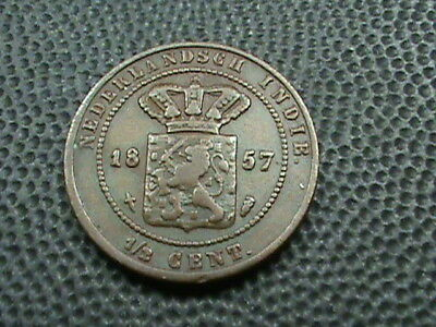 NETHERLANDS  EAST  INDIES    1/2  Cent    1857  $ 2.99 maximum shipping in USA