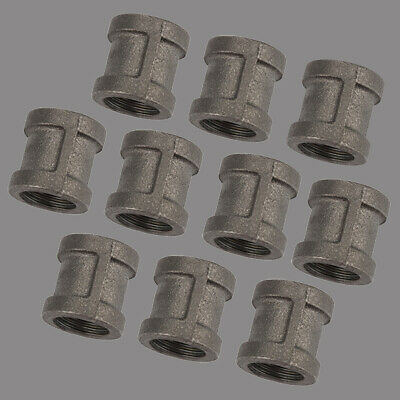 """LOT OF 25 3//4/"""" BLACK MALLEABLE IRON STRAIGHT COUPLING fitting pipe npt"""