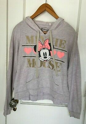Minnie Mouse Gray Graphic Light Pink and Gold Disney Sweatshirt Hoodie