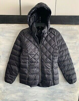 34011ad49 GERRY PACKABLE DOWN Puffer Hooded Gray Jacket Fillpower 650 Boys ...