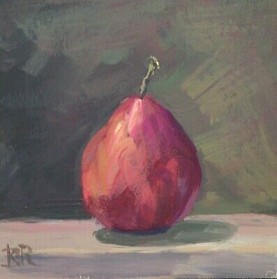 Original Signed  Painting Anjou Pear Wall Art Still Life New!  2019  K.d. Ryan