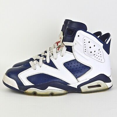 check out b5604 f7f7c 2012 NIKE AIR JORDAN VI 6 OLYMPIC 384664-130 SIZE Youth 7 White Blue Pre