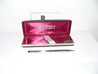 Vintage Sheaffer White Dot Mechanical Pencil - Silver Metal - Works Good