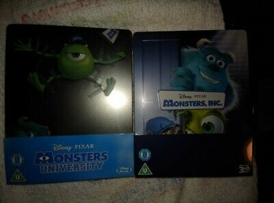 Monsters Inc. 3D and Monsters University  - Limited Edition Steelbook RARE
