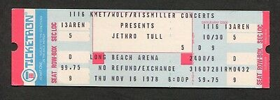 1978 Jethro Tull Uriah Heep Unused Full concert ticket Heavy Horses Long Beach