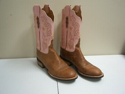 56ca0cc3942 WOMENS LUCCHESE 2000 Boots Pink Size 9B Cowboy Cowgirl Country Western Rodeo