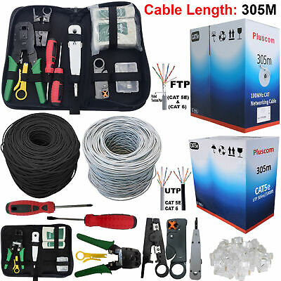 305M RJ45 Cat6 Network Ethernet OUTDOOR FTP UTP 1000Mps Gigabit Roll Cable LOT