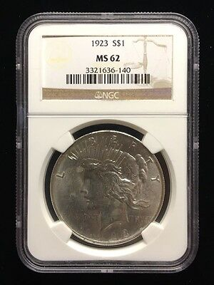 1923 Ngc Certified Ms 62 Peace Dollar