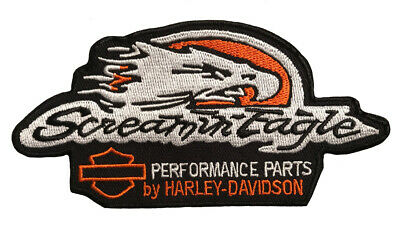 Harley Davidson Screamin Eagle Patch (4 Inch- Iron/ Sew On)