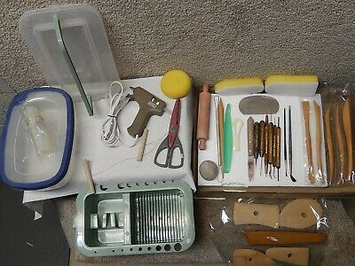 Lot Of 52 Pieces - Assorted Craft Clay Molding Sculpting Modeling Tools & Accesy