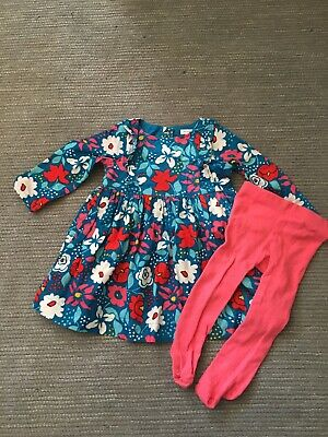 john lewis baby girl 6-9 months Dress And Tights Set