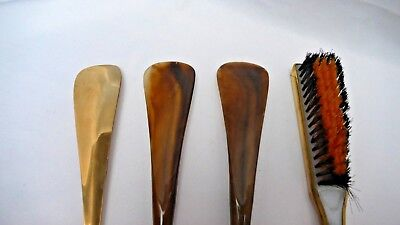 Job Lot 3 X Shoe Horn Kit And 1 X Clothes Brush For Wood Turning