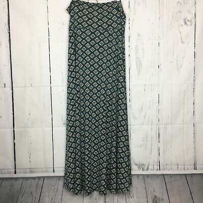 Careful Lularoe L Maxi Skirt Solid Light Green Garter Belts