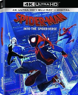 Spider-Man:into The Spider-Verse(4K Ultra Hd+Blu-Ray+Digital)W/slipcover New