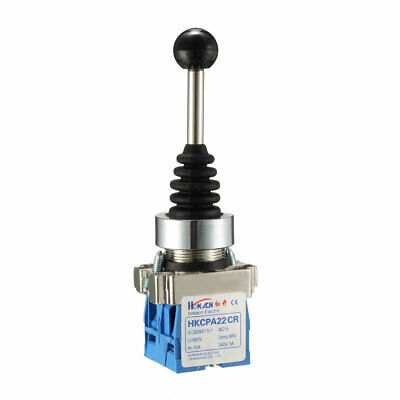 2 Directions Momentary Monolever Joystick Switch AC 240V 3A Blue
