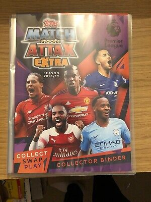 Match Attax Extra 2018/19 Full Set Of All 232 Cards In Binder All Mint