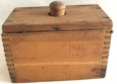 Primitive Antique Dovetailed Wooden Butter Mold