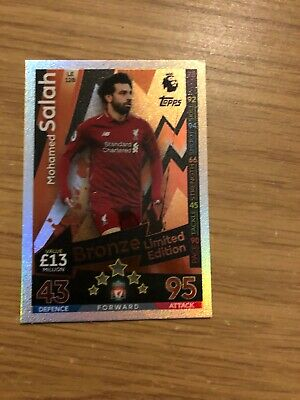 Match Attax Extra 2018/19 Mohamed Salah Bronze Limited Edition Le12B Mint