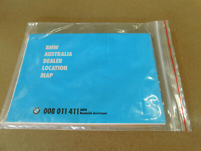 BMW Australia Dealership Location Map - PARTIALLY UNFOLDED 112 cm x 87 cm high