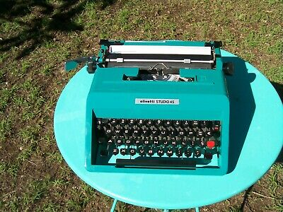 A very good condition Olivetti Studio 45 portable typewriter refurbished & case