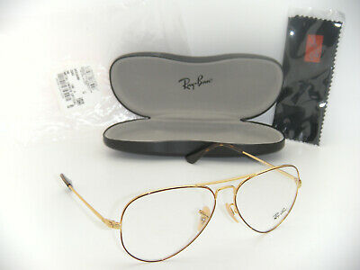 bbed54950279 Ray-Ban Aviator Eyeglasses RB 6489 2945 58mm GOLD TOP ON HAVANA RX Frame  Medium