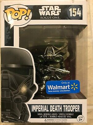 Star Wars EXC Chrome Imperial Death Trooper #154 Exclusive Figure NEW FUNKO POP